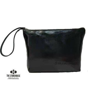 Storehouse Flats Black Leather Oil Tanned Wristlet